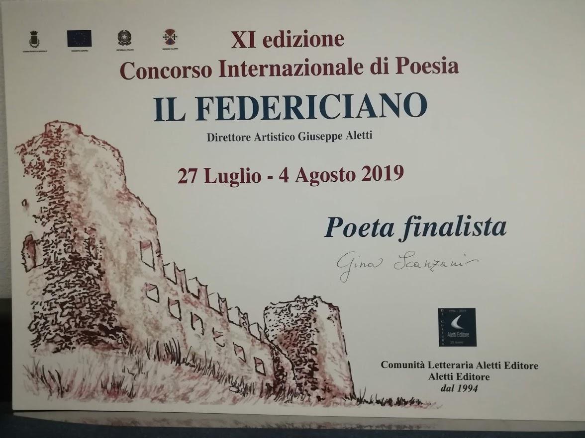 Poeta Finalista: Concorso Il Federiciano